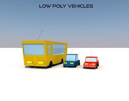 3D asset Low Poly Vehicles