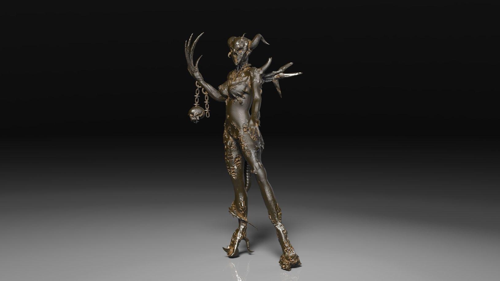 Warhammer 40k Demon Princess | 3D Print Model