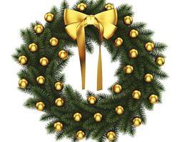 3D Christmas Wreath 4