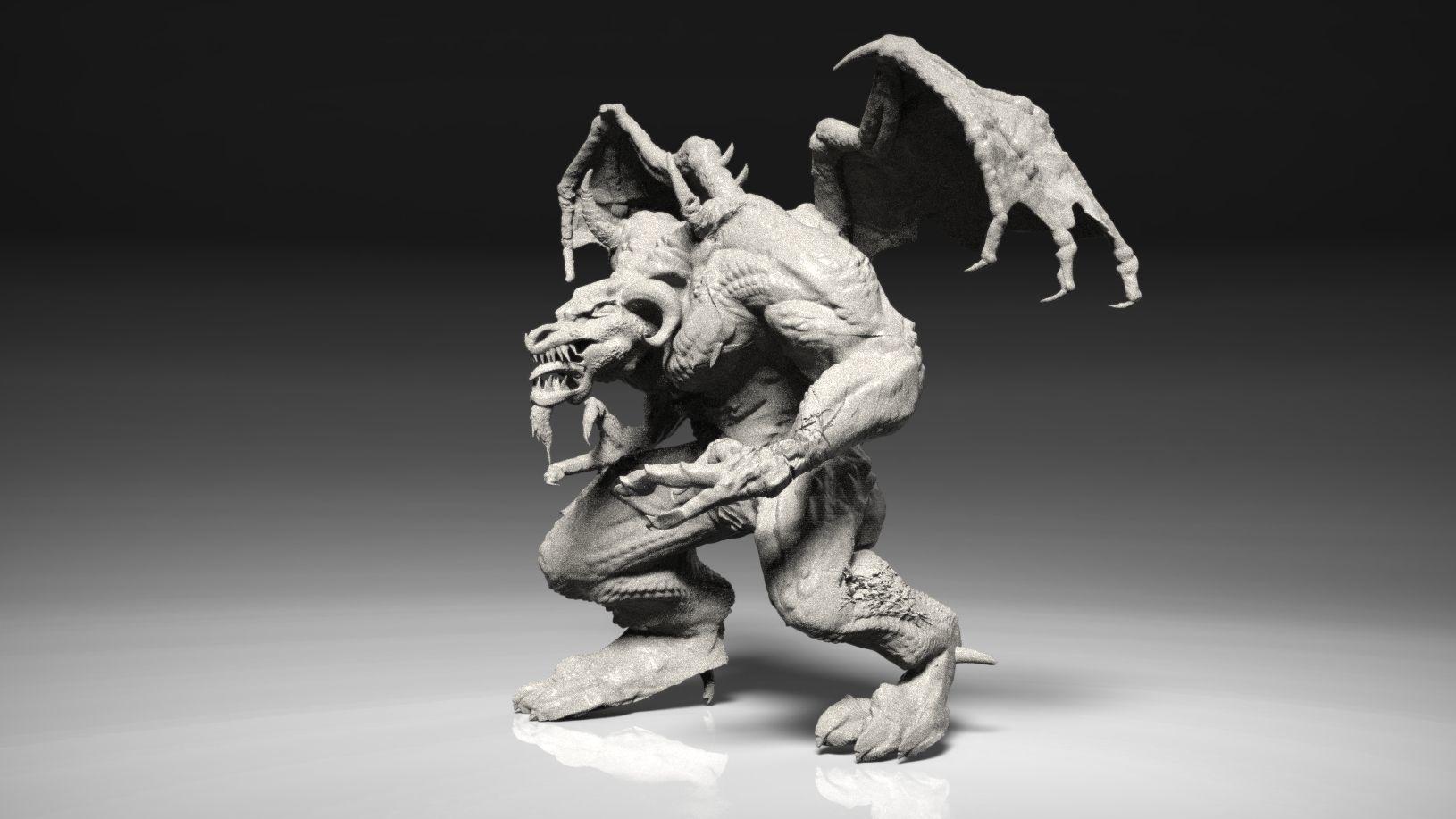 Warhammer 40k Age of Sigmar Pit Ogre miniature | 3D Print Model