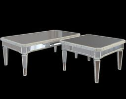 3D Antique Mirror Rectangle Coffee Table