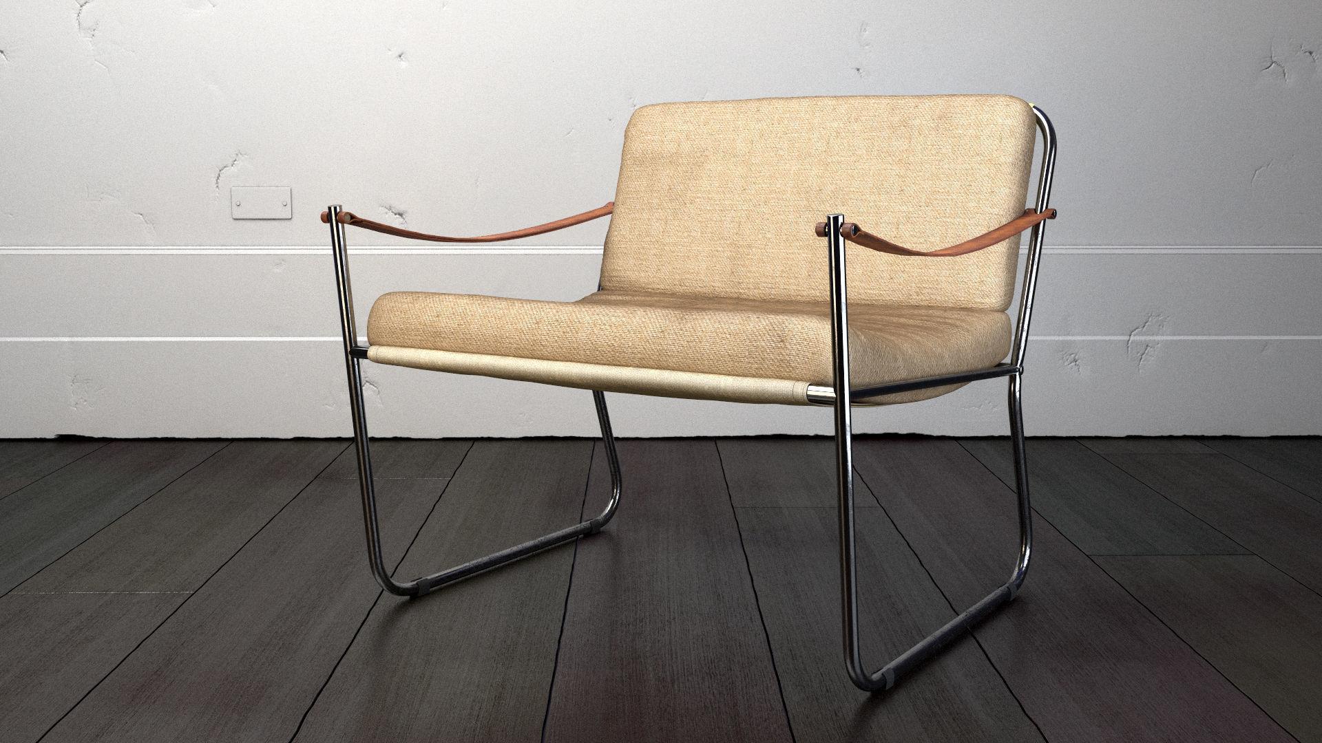 Vintage Danish Lounge Chair 3d Model Max Obj 3ds Fbx 1 ...