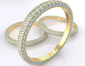 3D various Diamond Ring