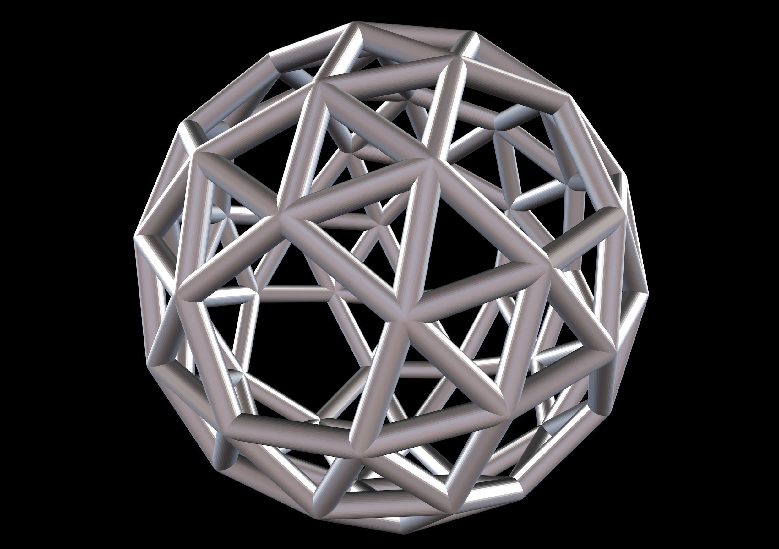 037 Mathart - Archimedean Solids - Snub Dodecahedron 01 - 10 cm