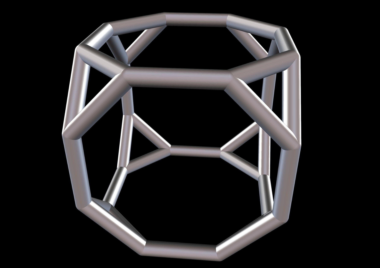 040 Mathart - Archimedean Solids - Truncated Cube 01 - 10 cm