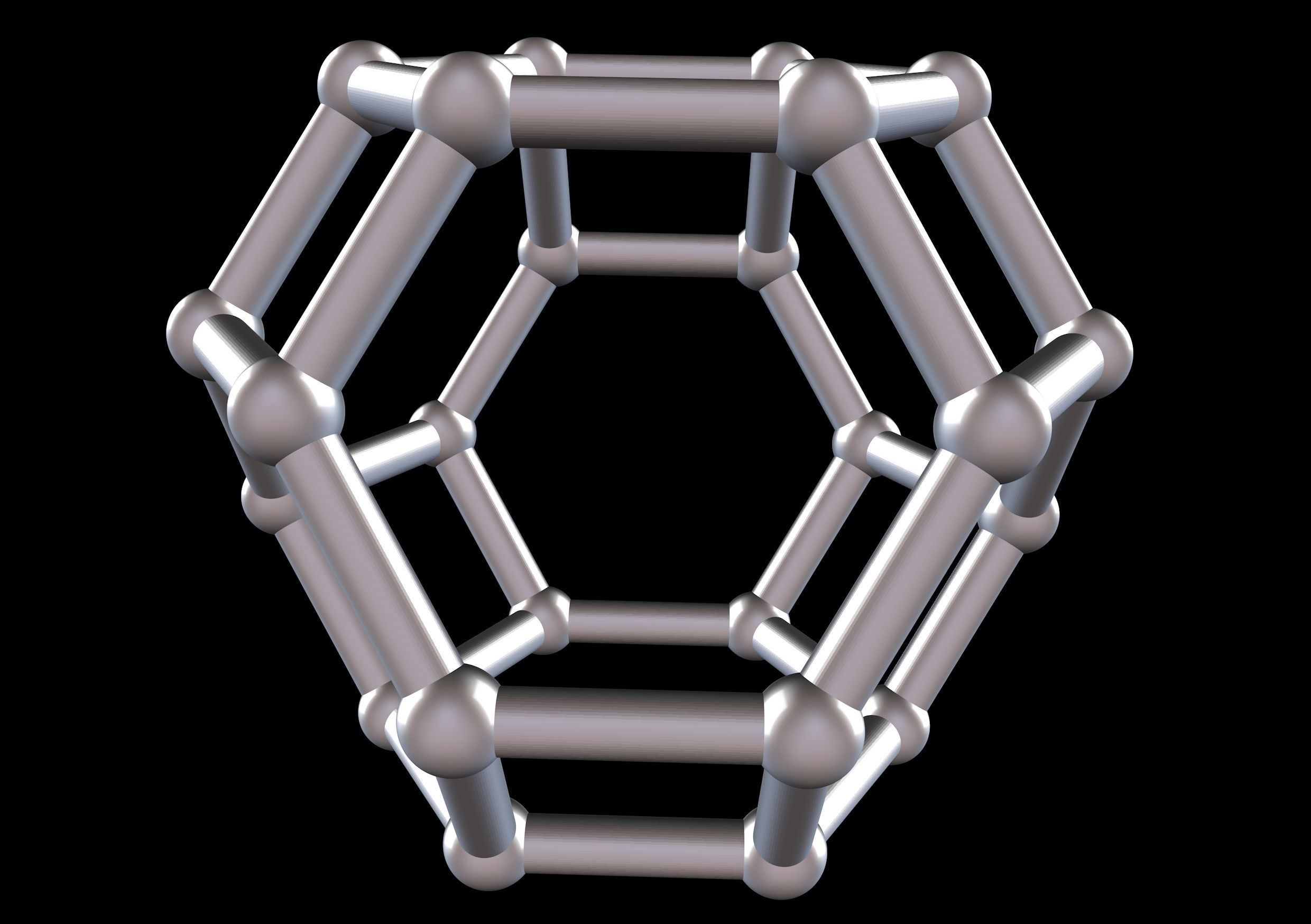 050 Mathart - Archimedean Solids - Truncated Octahedron 02-10cm