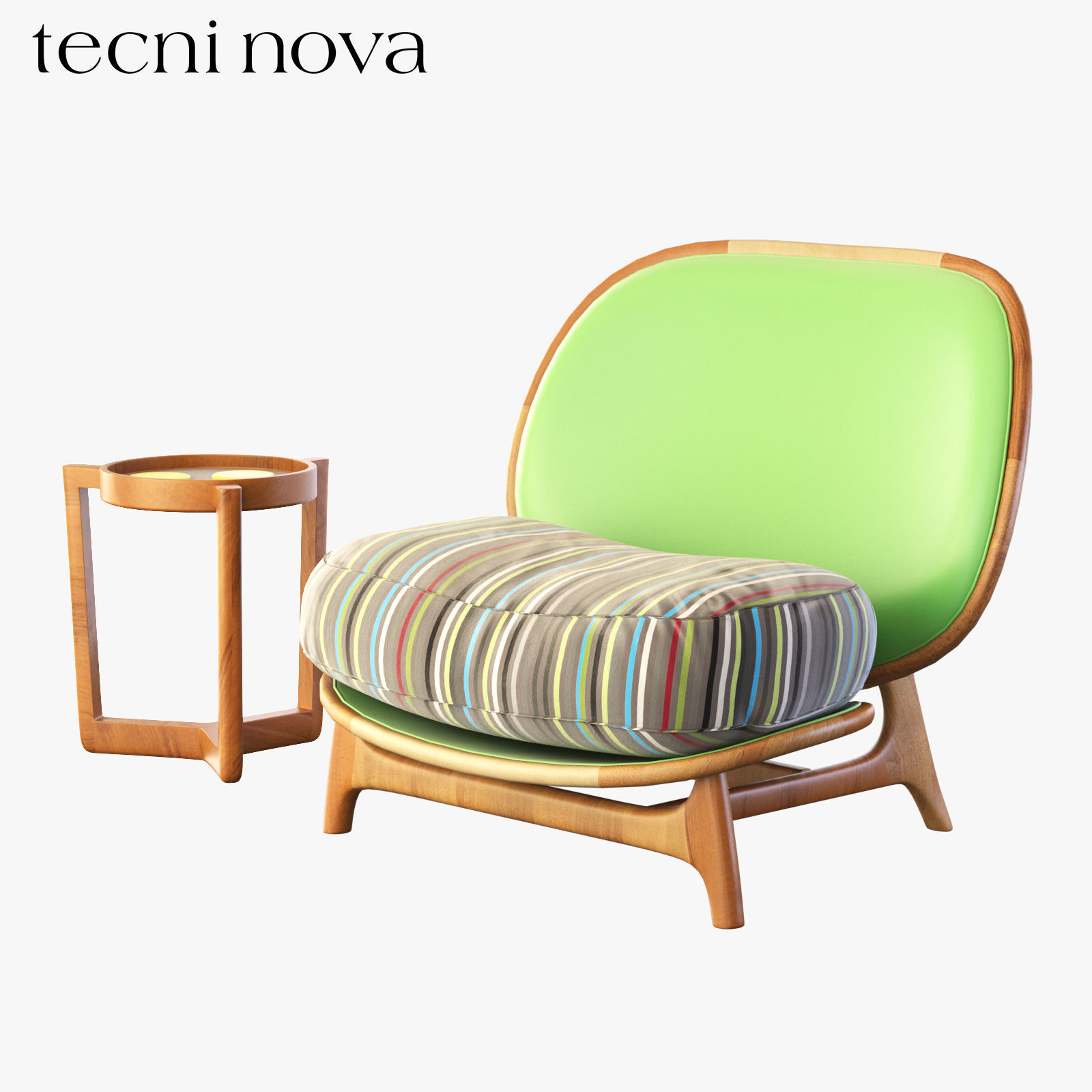 Armchair Outdoor Green Tecni Nova 3d Model Max Obj Fbx Mtl ...