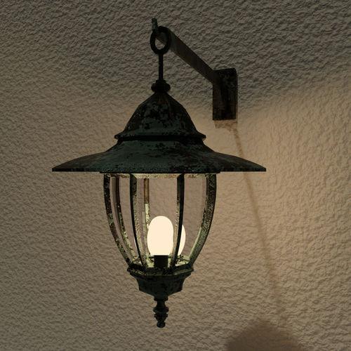 outdoor lamp - exterior outside light - old bronze antique 3d model low-poly obj mtl 3ds fbx blend dae 1