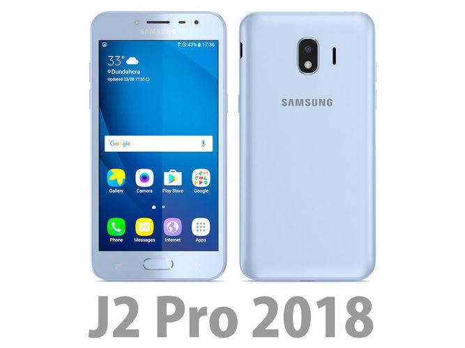 Samsung Galaxy J2 Pro 2018 Blue 3d Model Max Obj Mtl 3ds Fbx C4d Lwo Lw