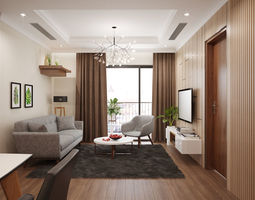 Apartment livingroom 3D