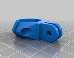 3D printable model GoPro Clamp Double 22mm