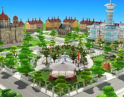 3D asset VR / AR ready Urban City