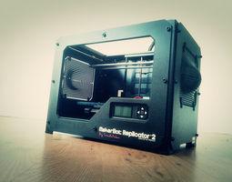 3d printable model replicator 2 side panels