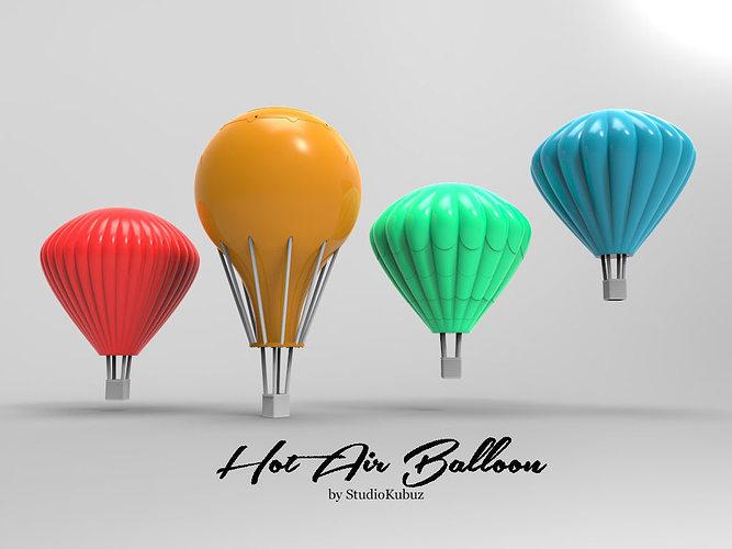 Printable Hot Air Balloons Cgtrader