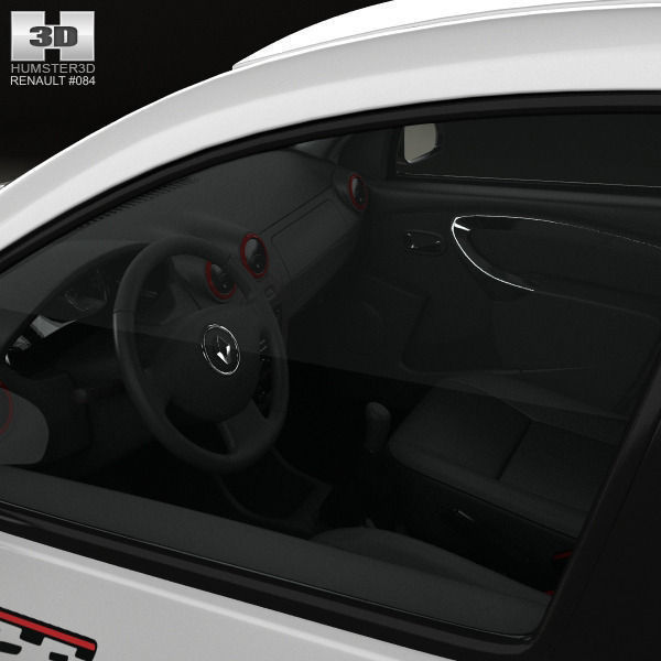 renault sandero gt line with hq interior 2012 3d model max obj 3ds fbx c4d ma mb. Black Bedroom Furniture Sets. Home Design Ideas