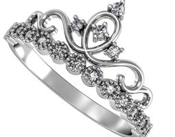 decoration 3D printable model Ring crown