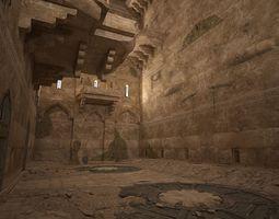 Ancient sacrificial room scene 3D model VR / AR ready