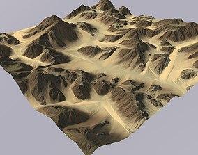Lowpoly Desert Terrain MTH057 3D model