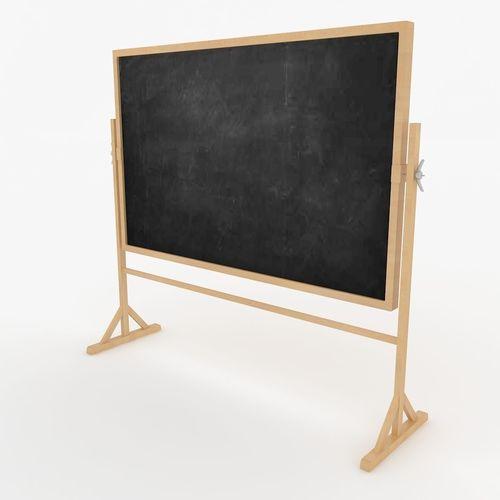 chalkboard 3d model max obj mtl 3ds fbx 1