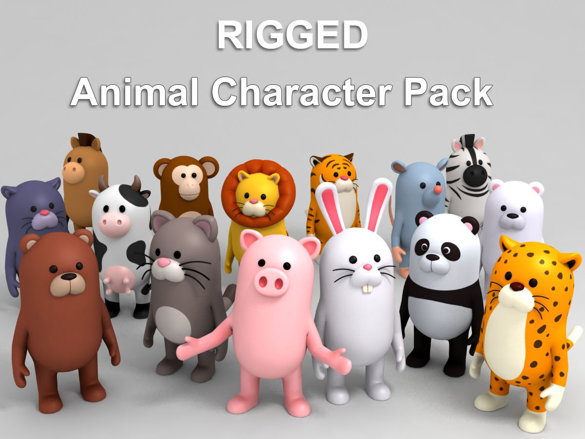 Rigged Animal Character Pack