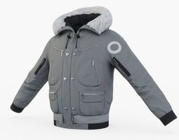 3D asset VR / AR ready Winter Jacket