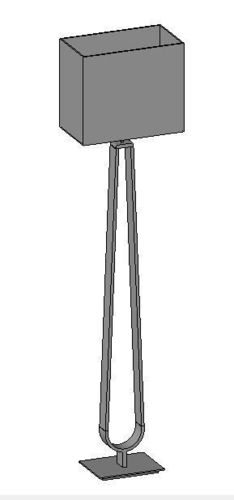 L IKEA KLABB Floor Lamp 3D Model