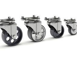 Set of Caster Wheels 3D