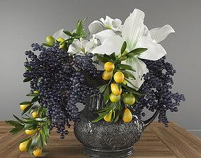 Bouquet with Privet Berry 3D model