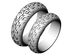 3D printable model popular bikers-wedding-rings