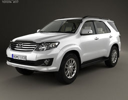 Toyota Fortuner with HQ interior 2013 3D