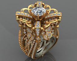 3D print model LOBORTAS HIGH-END WOMAN GOLD RING