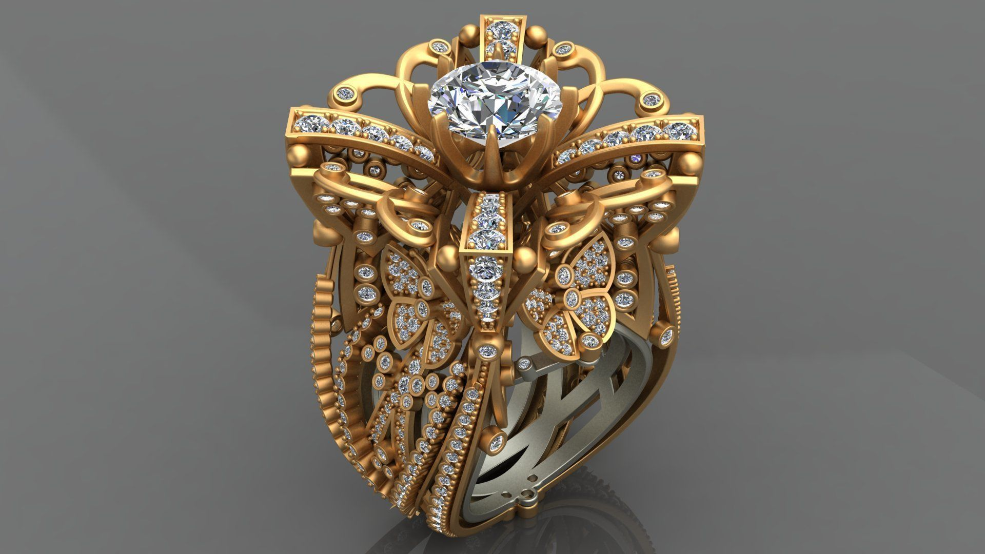 jewellery ring stylish adhvika gold