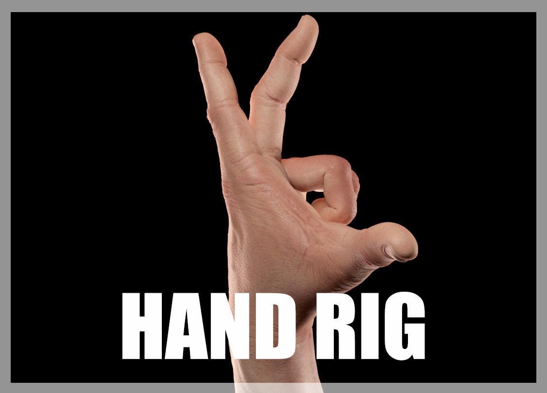 Hand CG Rigged