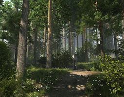 creek Forest Scene 10 3D model