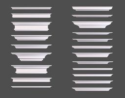 Set of Cornice Profiles 3D model