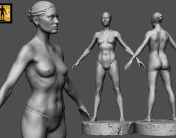 3D printable model female anatomy study