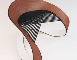 3D model wood modern chair