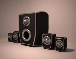 3d 3D model Speakers
