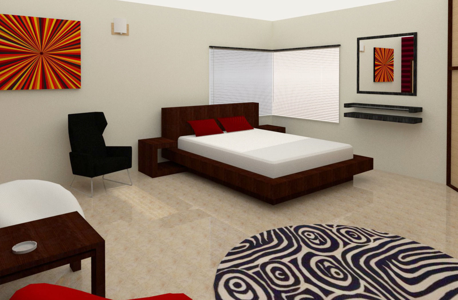 Simple Room Interior 3d Model Skp