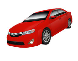 3D asset Toyota Camry US edition low poly