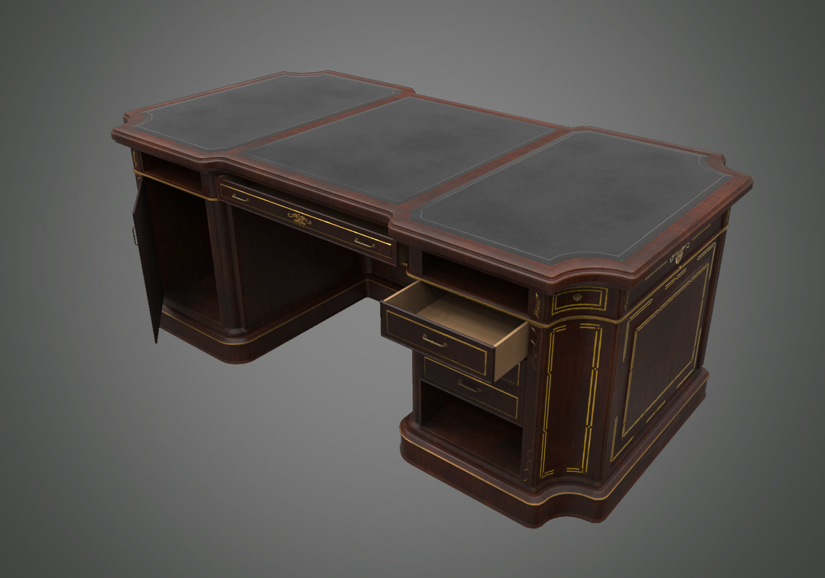 Classical wooden writing table