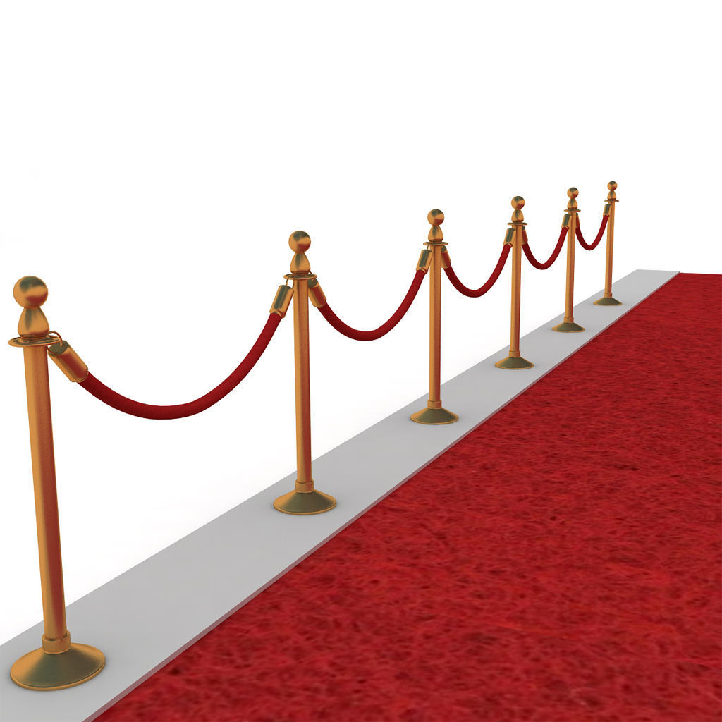 ... stanchions velvet rope and red carpet 3d model max obj mtl 3ds fbx dxf 3 ...