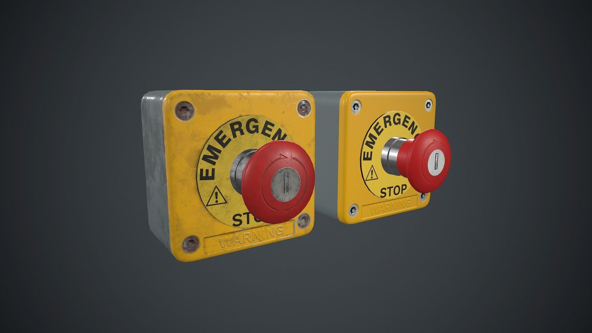 Emergency Button PBR Game Ready