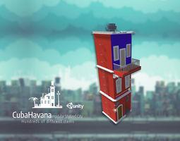 Modular City CubaHavana - a Simple House 3D print model 1