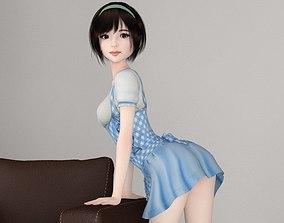 Honoka various outfit pose 02 character 3D