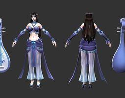 Pipa woman AlMe 3D model