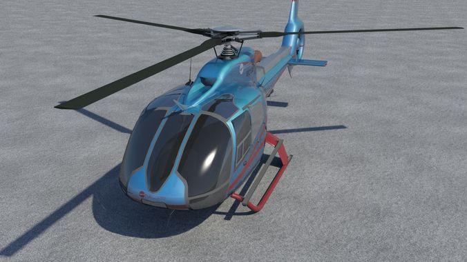 eurocopter ec-130 big 3d model max obj mtl fbx c4d stl blend 1