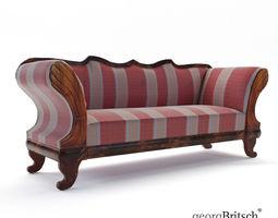 Biedermeier sofa - Austria 1840 - Georg Britsch 3D model