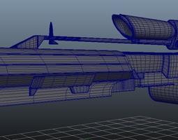3d print model borderlands sniper rifle