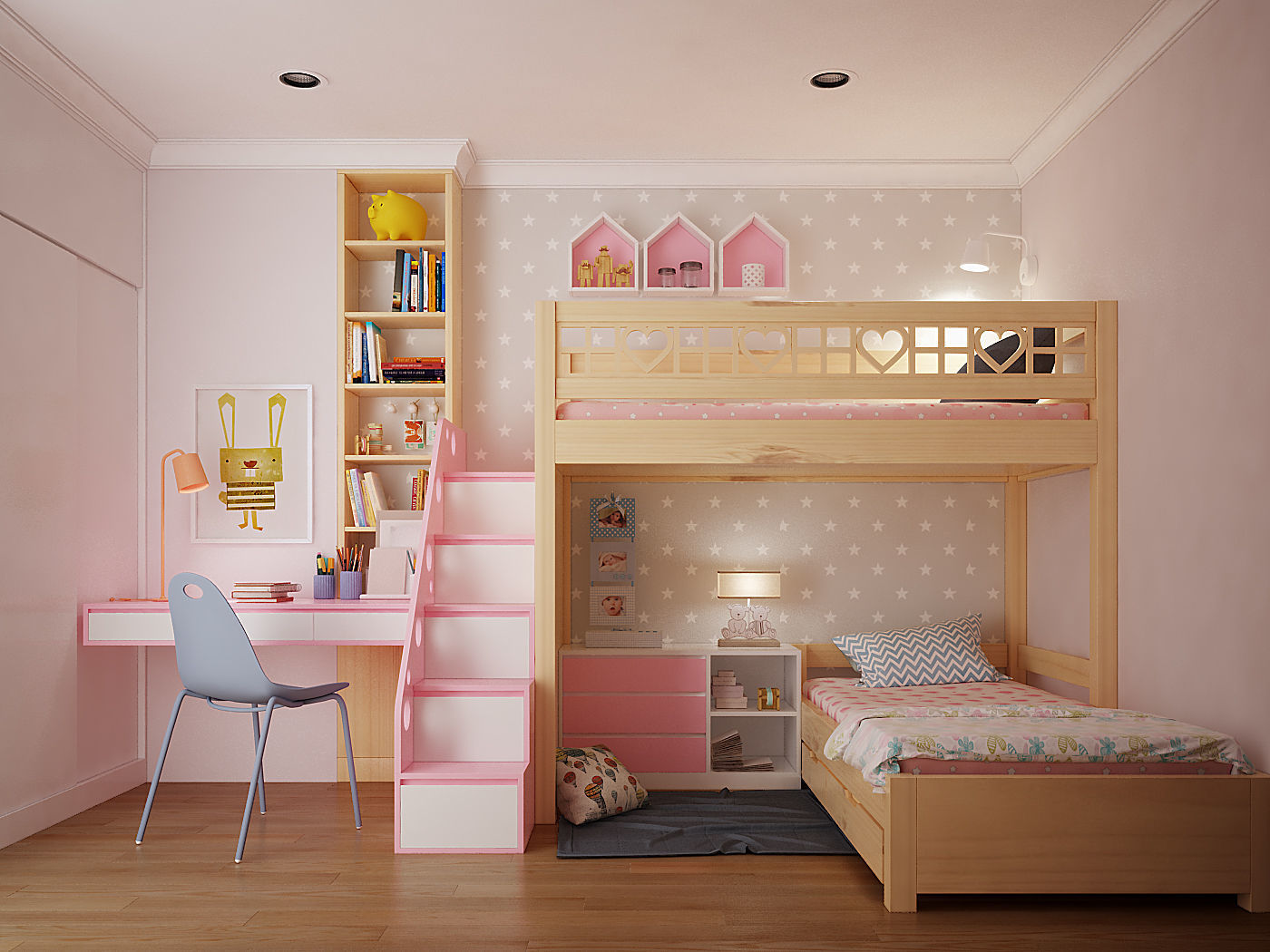 children 3D model Children bedroom | CGTrader